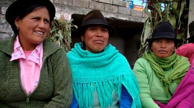 Trabjos de Ayuda en Acción en Ecuador